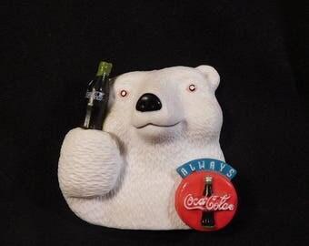 """Vintage Coca-Cola Polar Bear """"Always Coca-Cola"""" Magnet"""