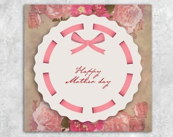Printable or virtual card, mother's day jpg png both English e e-card french instant download download