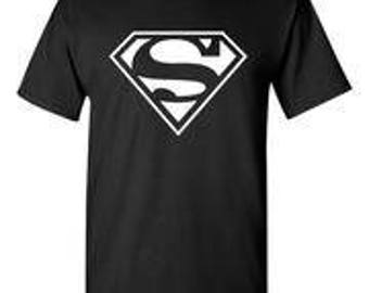 Superman White Logo Black T-Shirt