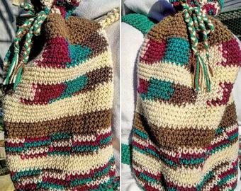 Sac à dos en Crochet multicolore