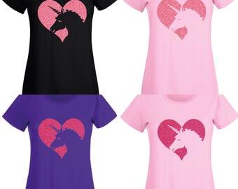 Love Unicorn Sparkle T Shirt