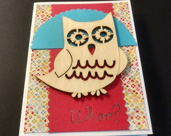 Birthday Wooden Owl