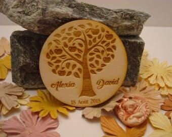 Lot 10 020880 wooden wedding Invitation