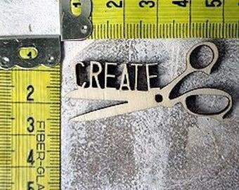 Scissors create 265 embellishment wooden creations