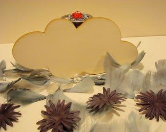 Cloud 12 x 20 cm - 801 embellishment wooden creations