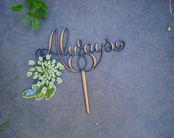 cake topper always always 02107 wooden parts to assemble wedding anniversary ceremony