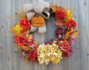 w0080 - Fall Blessings - Size: 21 inches