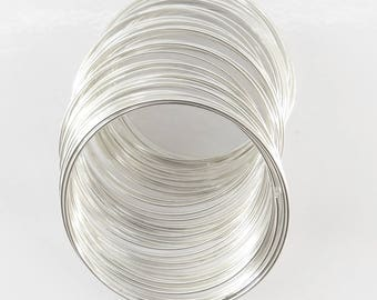 10 turns of memory wire 1 mm for making bm10 silver colored metal bracelet - 1 mm