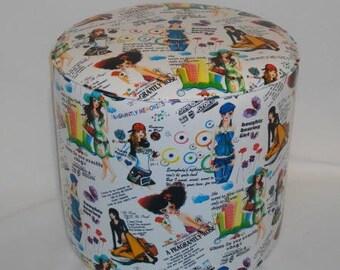Pouf leatherette characters 2304 fashion patterns