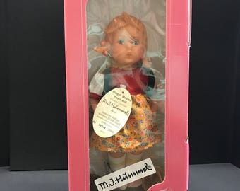 LITTLE SHOPPER GIRL.  Vintage Hummel Doll by Goebel.  In original box