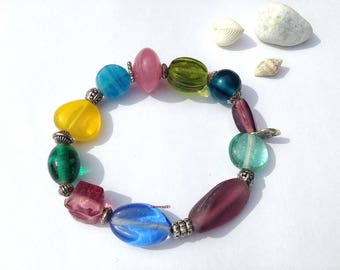 "Elastic bracelet ""Ellen"" glass beads"