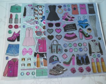 x 4 mixed boards fashion themed stickers stickers