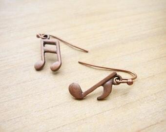 Music Note Earrings, Music Symbol Earrings, Music Lover Gift, Musician Gift, Gift for her, Musical Jewelry, Simple Earrings, Cute Gift