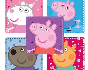 """25 Peppa Pig Character Stickers, 2.5"""" x 2.5"""" Each"""