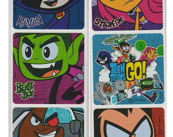 "25 Teen Titans Go! Character Stickers, 2.5"" x 2.5"""
