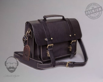 The Woodstock Leather Messenger Bag, Leather shoulder bag, Satchel, Leather Bag, Messenger Bag