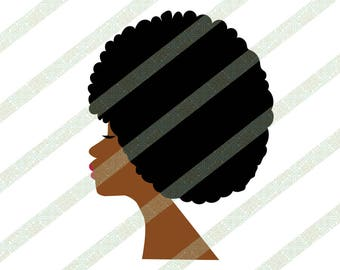 Afro SVG EPS PNG of African American Woman With Natural Hair