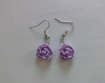 Pink Purple earrings