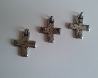 Silver pendent cross 4.5 cm