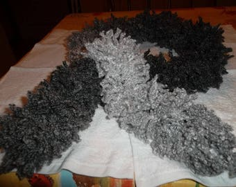 """Stunning fantasy style """"boa"""" wool scarf, knitted by hand."""