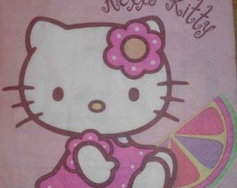 "112 napkin cat ""hello..."""