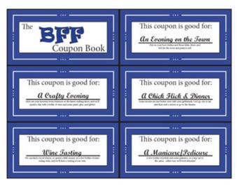 BFF | Bestie Coupon Book | Printable | Digital | Stocking Stuffer | Birthday | Gift | Friend | Best Friend
