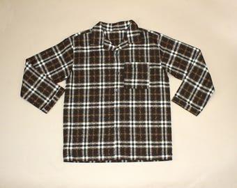 Vintage Womens Plaid Texture Shirt.  Sz: M