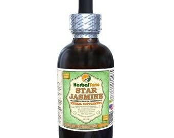 Star Jasmine (Trachelospermum Jasminoides) Glycerite, Dried Stems and Leaf Alcohol-FREE Liquid Extract