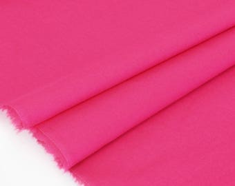 50cm x raspberry fluid cotton batiste fabric