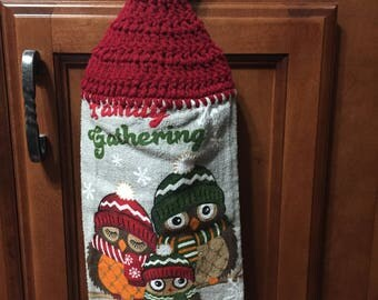 "Owls ""Family Gathering"" Hand Towel"