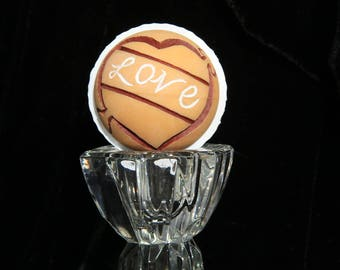 Hand Carved Valentine's Day Golf Ball