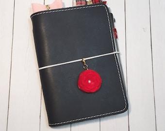 Red Rose Traveler's Notebook Felt Charm