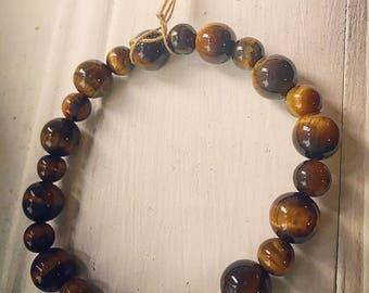 Handmade Tiger's Eye precious stoned bracelet