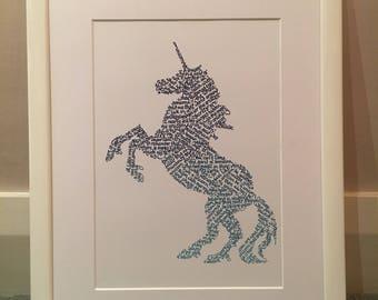 Unicorn in calligraphy quotes