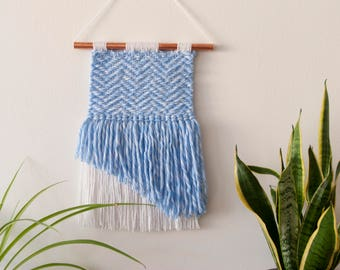 Ethnic Tapestry/handmade tapestry/wall decor/Bohemian tapestry/Contemporary tapestry/modern tapestry/weaving wall hanging/blue Tapestry