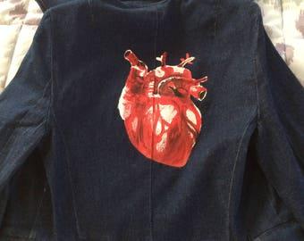 Heart Jean Jacket