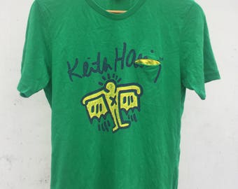 Vintage KEITH HARING T shirt Medium K.Haring Bark Children Baby Art Artwork Streetwear Andy Warhol 80's Graffiti T shirt Size M