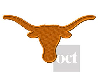 11 Size* Texas Longhorns Embroidery Designs Football Embroidery Designs PES Football Logo College Football - Instant Download