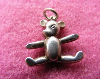 D) Vintage Sterling Silver Charm Teddy Bear