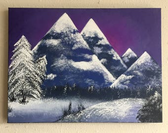 Snowy Mountain Painting