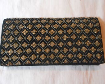 Lovely embroidered clutch, evening purse, wallet