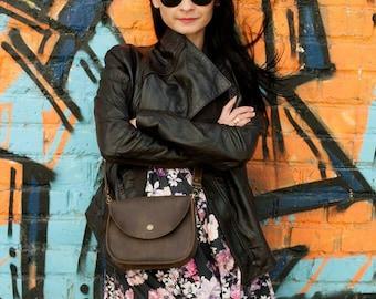 Brown Shoulder Bag Natural Leather Bag Crossbody Bag Shoulder Boho Bag Brown Leather Bag Shoulder Bag Shoulder Purse Mini purse