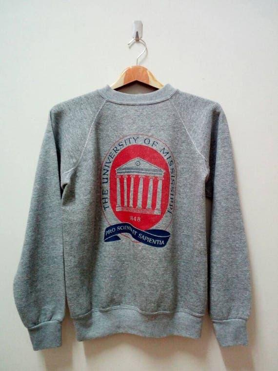 Vintage Sweatshirt 80s The University Of Mississippi 1848 XVhTwG
