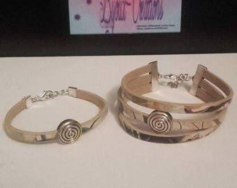 Bracelets mother-daughter duo swirl