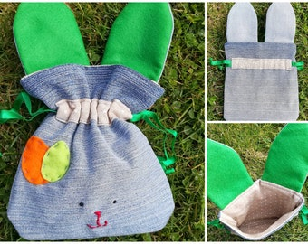 Easter egg bag with rabbit ears