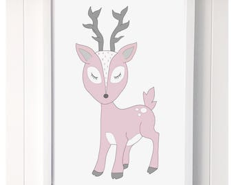 Darling Deer Print