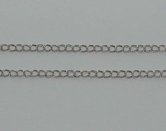 1 m chain mesh horse double matte silver 4x5mm