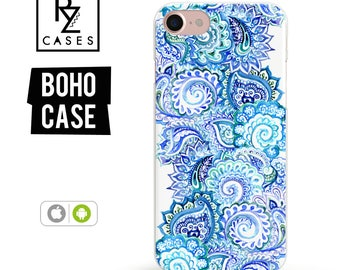 Boho Case, Paisly Phone Case, iPhone 7 Case, iPhone 6, Mandala Case, iPhone 7 Plus Case, iPhone 6 plus, Samsung Galaxy, iPhone 7 Clear Case