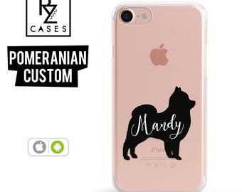 Dog Phone Case, Custom Pet Name Phone Case, Pomeranian Case, iPhone 7, Animal Case, Dog Lover, Gift for Her, iPhone 7 Plus, iPhone 6S Case