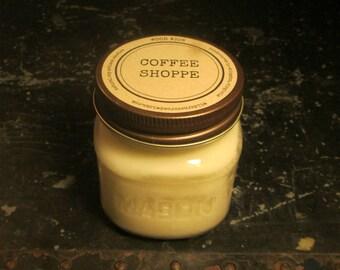 COFFEE SHOPPE // Soy Candle // Wood Wick // Mason Jar